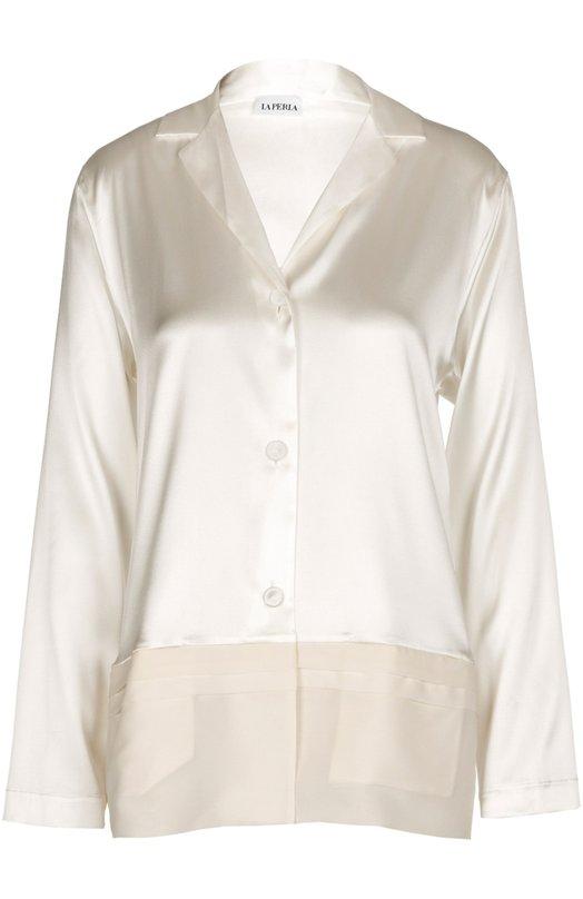 Шелковая блуза в пижамном стиле La Perla 0017282