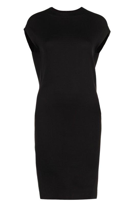 Шелковое платье с укороченным рукавом и круглым вырезом Balenciaga 412952/T2090