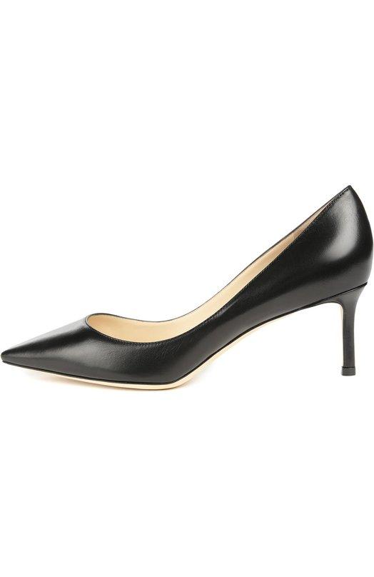 Купить Кожаные туфли Romy на шпильке Jimmy Choo, R0MY 60/KID, Италия, Черный, Кожа натуральная: 100%; Стелька-кожа: 100%; Подошва-кожа: 100%;