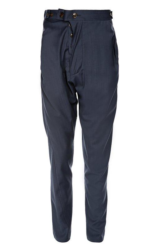 Шерстяные брюки с заниженной линией шага Vivienne Westwood S25KA0464/44678