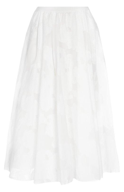 Юбка-миди с защипами и принтом Gerard DarelЮбки<br>Мастера марки, основанной супругами Жераром Жерби и Даниель Жерби-Дарель, сшили юбку А-силуэта из плотной смесовой ткани. Модель вошла в весенне-летнюю коллекцию 2016 года. Наши стилисты рекомендуют сочетать с полупрозрачной блузой и сандалиями на платформе.<br><br>Российский размер RU: 48<br>Пол: Женский<br>Возраст: Взрослый<br>Размер производителя vendor: 42<br>Материал: Полиамид: 62%; Хлопок: 38%; Подкладка-хлопок: 100%;<br>Цвет: Белый