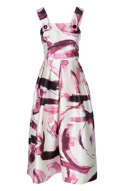 Купить Шелковый приталенный сарафан с ярким принтом Dolce & Gabbana Италия 5071676 0102/F6XS2T/HS1DV