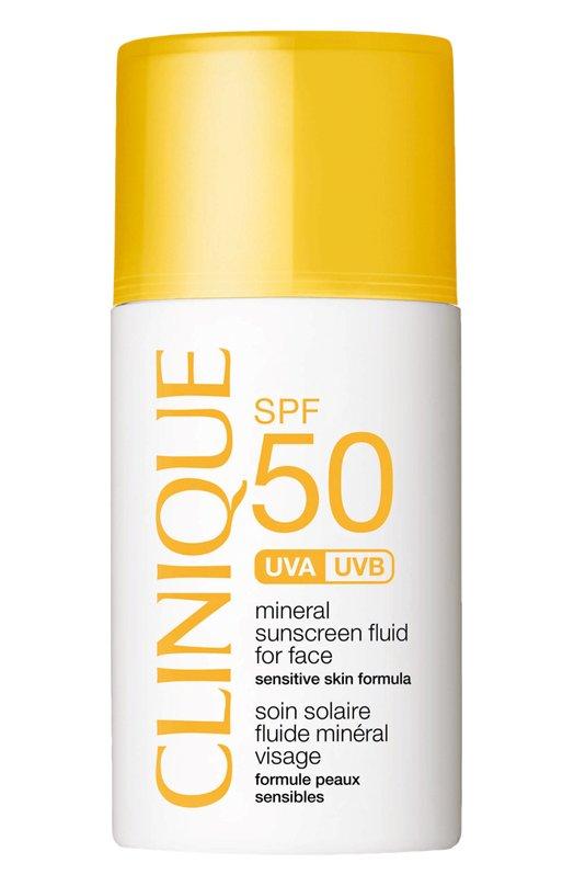 Солнцезащитный минеральный флюид для лица с SPF50 CliniqueЗащита от солнца<br><br><br>Объем мл: 30<br>Пол: Женский<br>Возраст: Взрослый<br>Цвет: Бесцветный