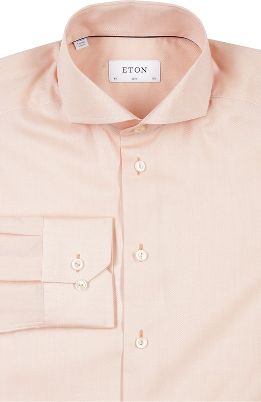 Хлопковая приталенная сорочка с воротником акула Eton 3854 73655