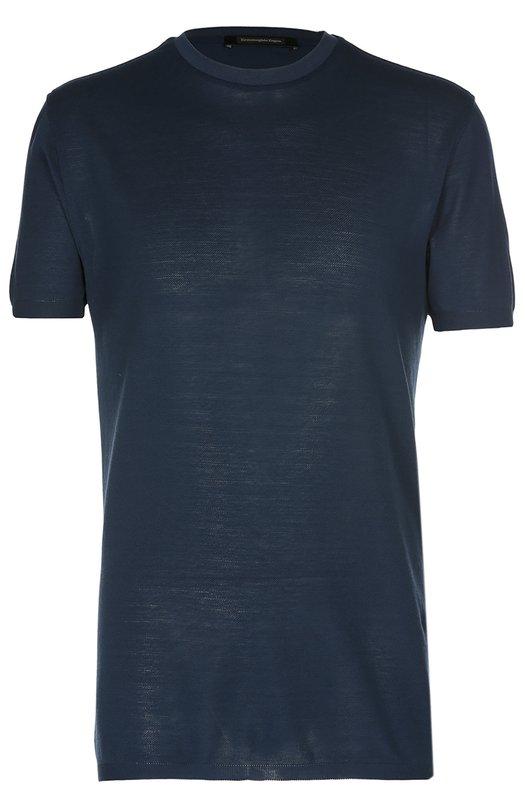 Хлопковая футболка с круглым вырезом Ermenegildo Zegna UI545706