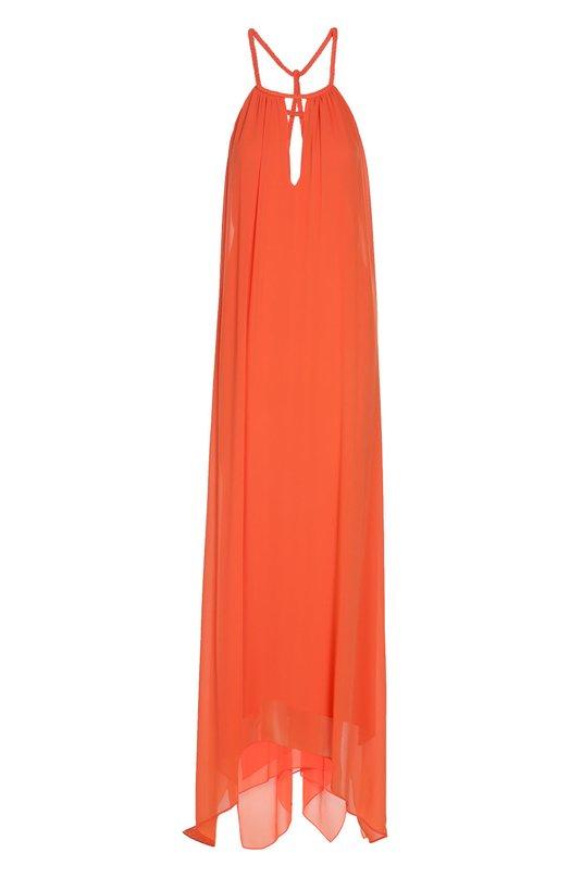 Платье в пол асимметричного кроя на бретельках Alice + Olivia C603633674