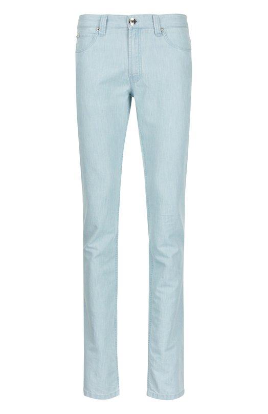 Прямые брюки из денима Armani Collezioni TCPJ15/TCS17