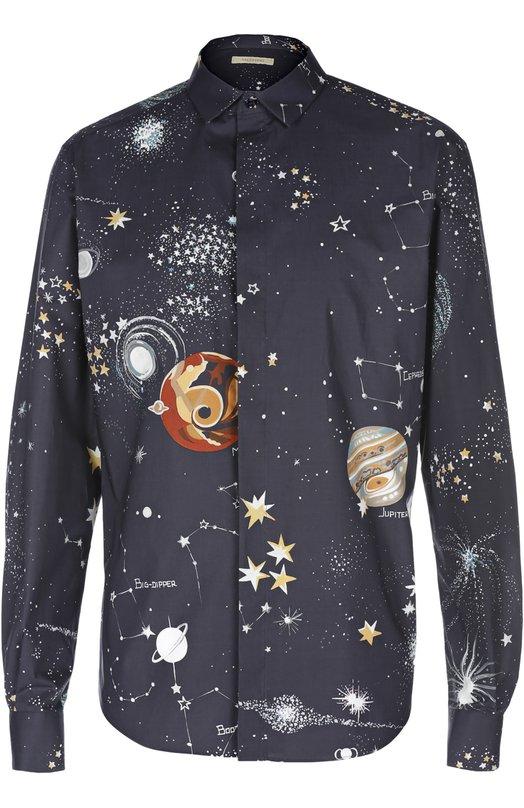 Хлопковая рубашка с принтом Cosmo Valentino LV3AB770/2M7