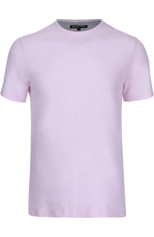 Хлопковая футболка с круглым вырезом Michael Kors CS65FUG03M