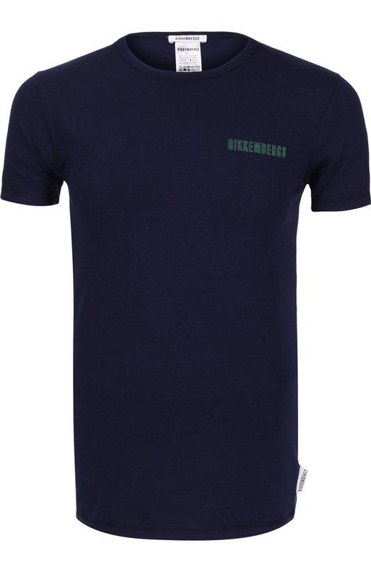Комплект из двух разноцветных футболок с логотипом бренда Dirk Bikkembergs B4T1000