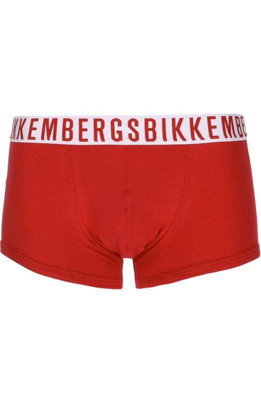 Комплект из двух хлопковых боксеров с широкой резинкой Dirk Bikkembergs B4B4002