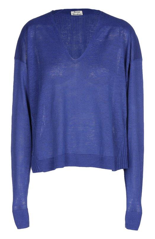 Пуловер свободного кроя с фактурной отделкой Acne Studios 19E161