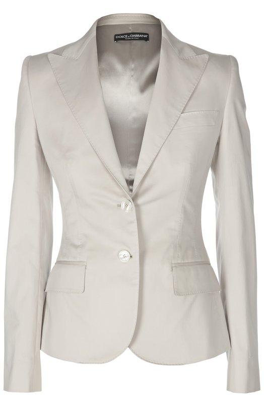 Приталенный жакет на пуговицах с карманами Dolce & Gabbana 0102/F29T7T/FUFGE