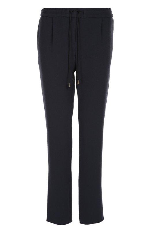 Прямые брюки с защипами и эластичным поясом BOSS 50311879