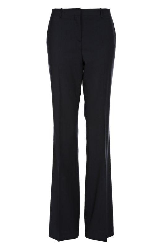 Купить Расклешенные брюки со стрелками BOSS, 50291865, Турция, Темно-синий, Шерсть: 96%; Эластан: 4%;