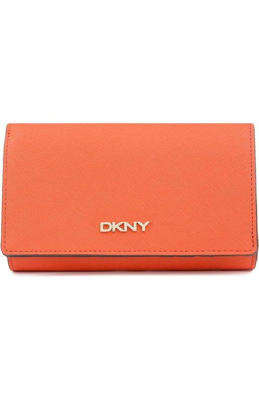 Кожаное портмоне с клапаном DKNY R1621104