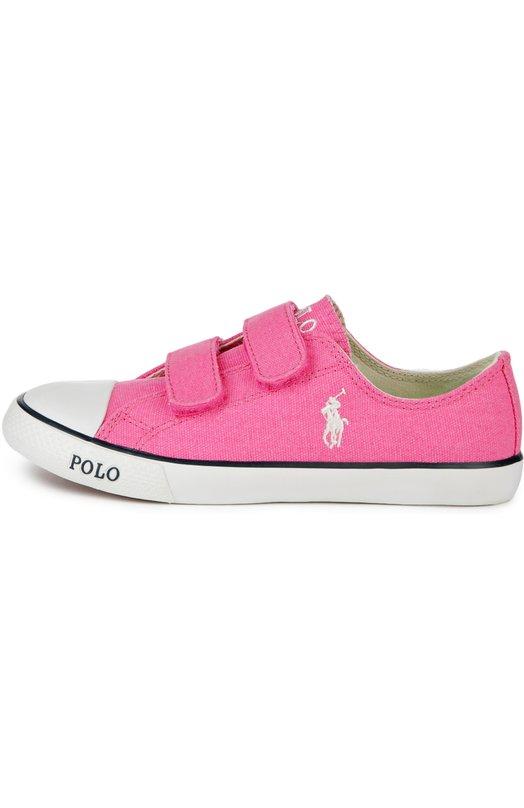 Кеды с двойной застежкой велькро Polo Ralph LaurenСпортивная обувь<br><br><br>Российский размер RU: 28<br>Пол: Женский<br>Возраст: Детский<br>Размер производителя vendor: 28<br>Материал: Подошва-резина: 100%; Текстиль: 100%; Стелька-текстиль: 100%;<br>Цвет: Розовый