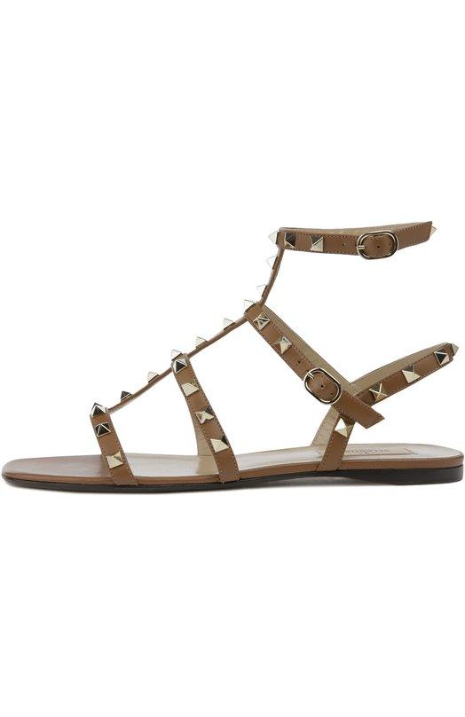 Кожаные сандалии Rockstud с ремешками Valentino LW1S0A05/V0D
