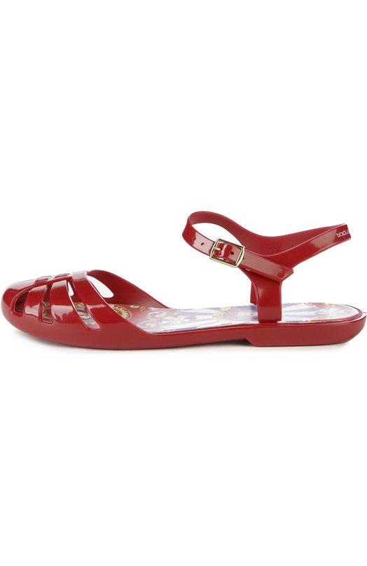 Сандалии с круглым мысом Dolce & Gabbana 0132/D00131/AL371/29-36