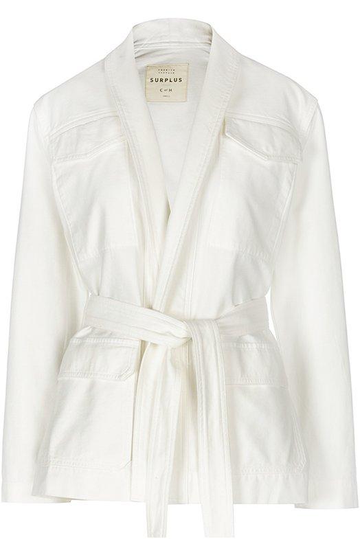 Купить Джинсовый жакет-кимоно с накладными карманами и поясом Citizens Of Humanity, 586-576, США, Белый, Хлопок: 100%;
