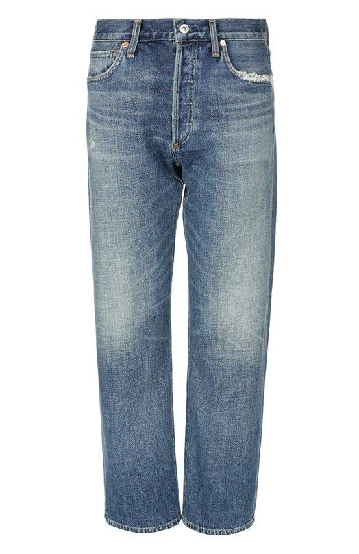 Джинсы Citizens Of HumanityДжинсы<br>Синие прямые джинсы с классической посадкой на талии сшиты из плотного хлопка. Укороченная модель с декоративными потертостями вошла в коллекцию сезона осень-зима 2016 года. Мы советуем носить с белым пуловером и коричневыми босоножками на платформе.<br><br>Российский размер RU: 44<br>Пол: Женский<br>Возраст: Взрослый<br>Размер производителя vendor: 27<br>Материал: Хлопок: 77%; Вискоза: 23%;<br>Цвет: Синий