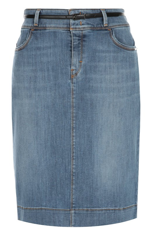 Джинсовая юбка-карандаш с карманами BOSS 50310078