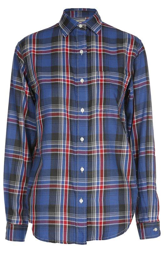 Блуза прямого кроя в клетку в накладным карманом Denim&Supply by Ralph Lauren W02/GK143/CFWTW