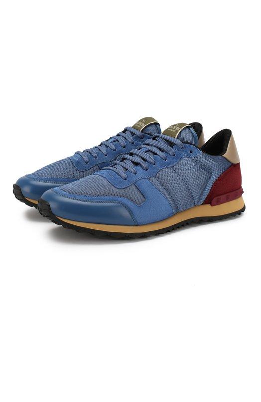 Замшевые кроссовки с шипами Valentino LY2S0723/TCV