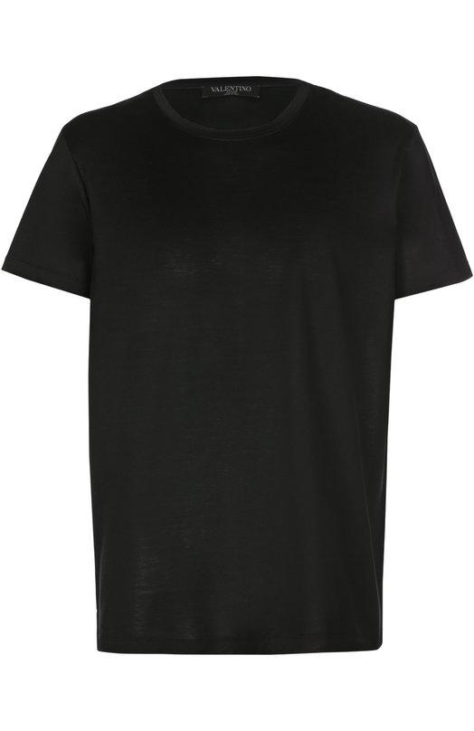 Хлопковая футболка с круглым вырезом Valentino LV3MG00H/3MM
