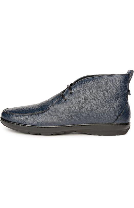 Кожаные полуботинки с меховой стелькой Aldo BrueБотинки<br>В осенне-зимнюю коллекцию 2016 года вошли ботинки из сверхмягкой зернистой кожи темно-синего цвета. Утепленная модель с зауженным мысом дополнена внутренней отделкой из овчины. Подошва изготовлена из упругой многослойной резины.<br><br>Российский размер RU: 42<br>Пол: Мужской<br>Возраст: Взрослый<br>Размер производителя vendor: 8<br>Материал: Кожа натуральная: 100%; Подошва-резина: 100%; Стелька-овчина: 100%;<br>Цвет: Синий