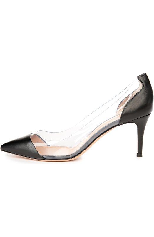 Купить Кожаные туфли Plexi на шпильке Gianvito Rossi Италия 5028199 G28560/LAMB+PLEXI