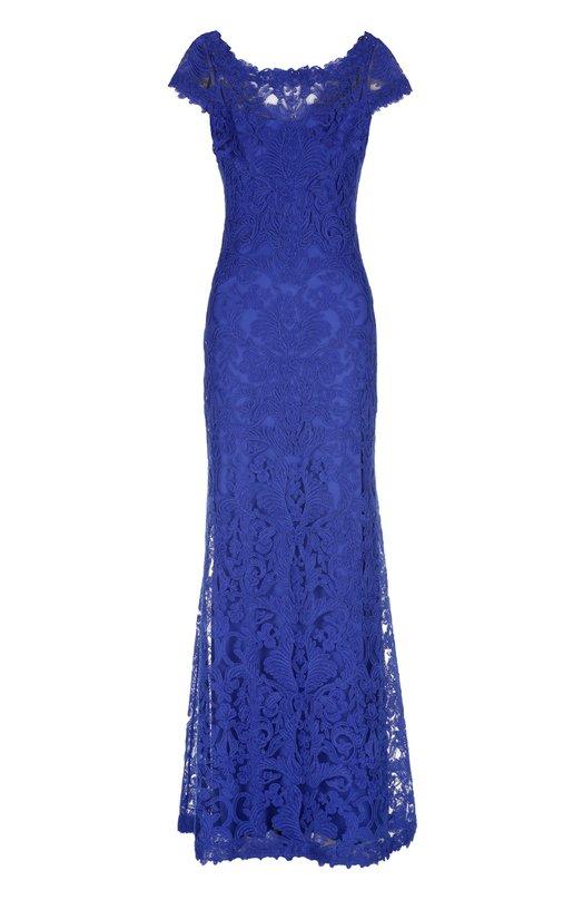 Купить Кружевное платье в пол с открытой спиной Tadashi Shoji Китай 4294057 ALX1812LY