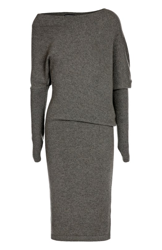 Кашемировое приталенное платье с асимметричным вырезом Tom Ford ACK133/YAX061