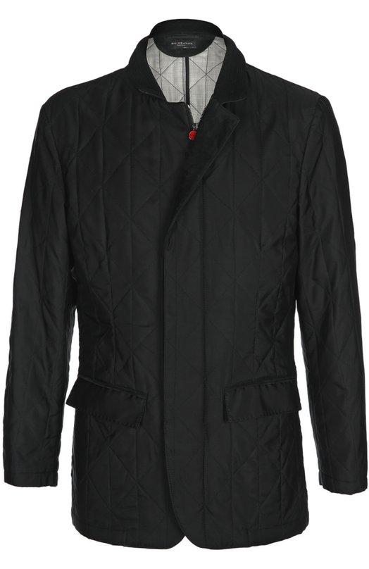Стеганая куртка из шелка Kiton UW0015/8L67