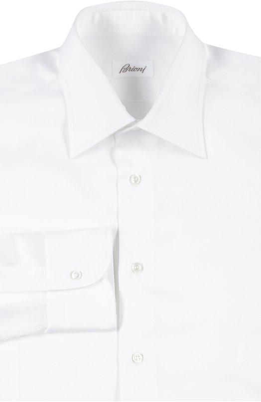 Хлопковая сорочка с итальянским воротником BrioniРубашки<br><br><br>Российский размер RU: 48<br>Пол: Мужской<br>Возраст: Взрослый<br>Размер производителя vendor: 39<br>Материал: Хлопок: 100%;<br>Цвет: Белый