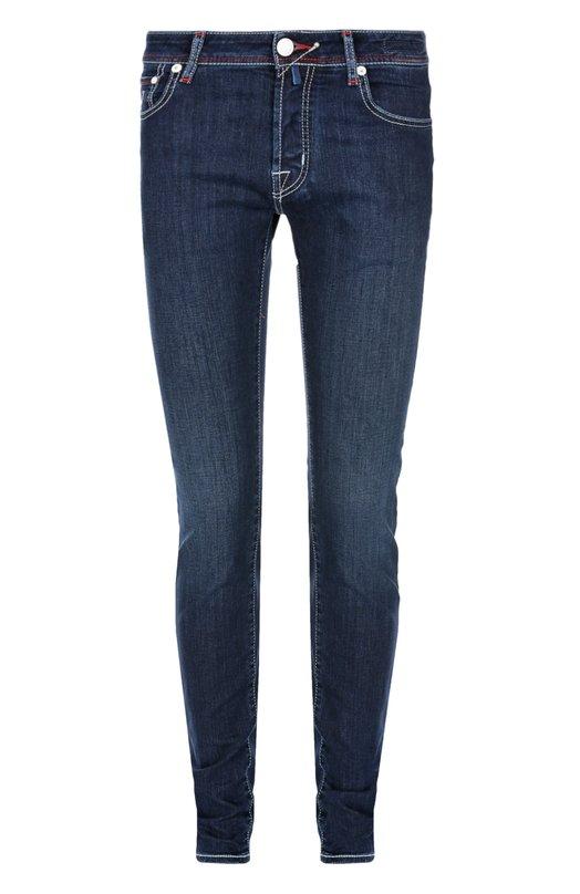 Зауженные джинсы Jacob CohenДжинсы<br>В коллекцию сезона весна-лето 2016 года вошли зауженные джинсы с низкой посадкой. Модель из синего эластичного хлопка прошита голубой нитью, пояс – красной. Мы рекомендуем носить с белой футболкой и кедами в тон.<br><br>Российский размер RU: 48<br>Пол: Мужской<br>Возраст: Взрослый<br>Размер производителя vendor: 33<br>Материал: Хлопок: 92%; Полиэстер: 7%; Эластан: 1%;<br>Цвет: Синий
