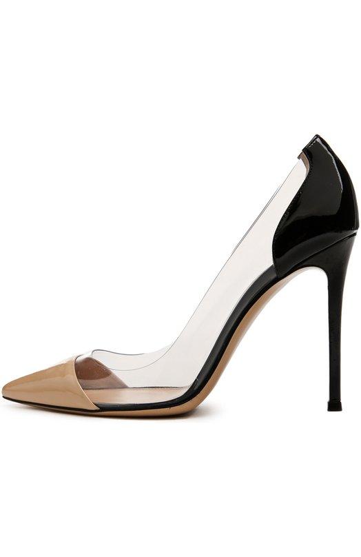Лаковые туфли Plexi на шпильке Gianvito RossiТуфли<br>&amp;bull; Москва 523 EUR (36 600 RUB)&amp;bull; Милан 590 EUR&amp;bull; Лондон 550 EUR (495 GBP)&amp;bull; Дубай 585 EUR (2 370 AED)Туфли-лодочки из лакированной кожи телесного цвета дополнены прозрачными боковыми вставками, характерными для всех моделей линии Plexi. Изделие с зауженным мысом, тонким высоким каблуком представлено в классической коллекции бренда, основанного Джанвито Росси.<br><br>Российский размер RU: 39<br>Пол: Женский<br>Возраст: Взрослый<br>Размер производителя vendor: 39<br>Материал: Кожа натуральная: 100%; Стелька-кожа: 100%; Подошва-кожа: 100%; Пластик: 100%;<br>Цвет: Бежевый