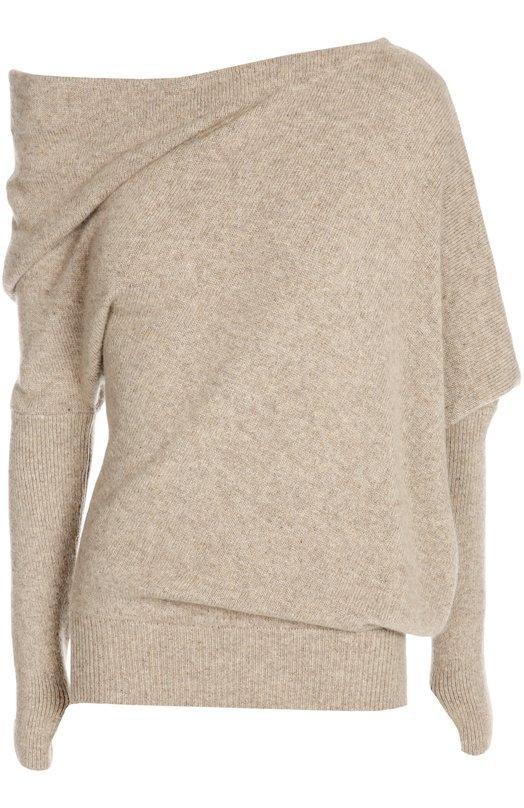 Кашемировый пуловер асимметричного кроя Tom FordСвитеры<br><br><br>Российский размер RU: 48<br>Пол: Женский<br>Возраст: Взрослый<br>Размер производителя vendor: L<br>Материал: Кашемир: 100%;<br>Цвет: Бежевый