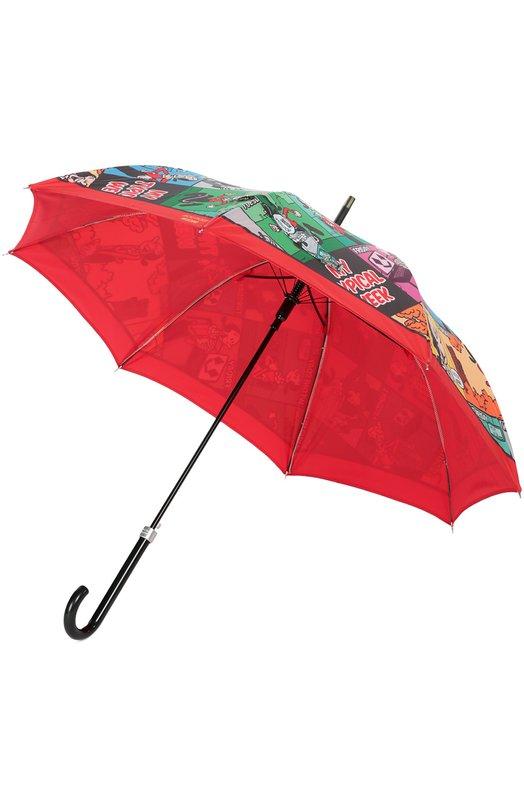 Зонт-трость с принтом Moschino 7667-63AUT0