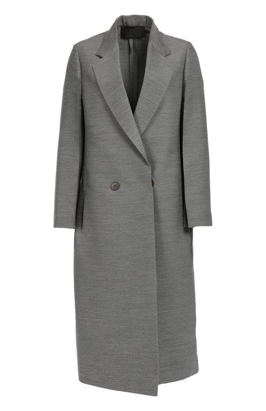 Удлиненное двубортное пальто прямого кроя с карманами Calvin Klein Collection 04/551183/72004