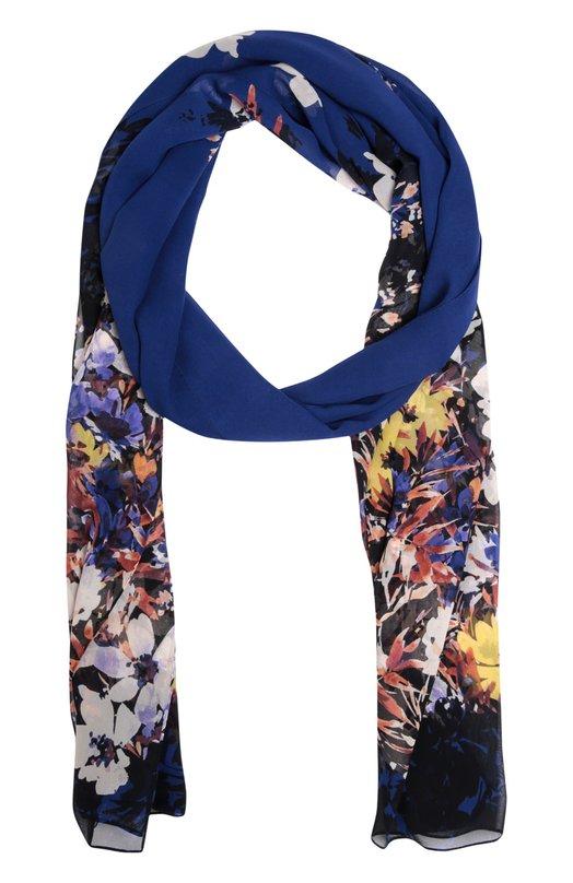 Шелковый шарф с принтом St. JohnШарфы<br><br><br>Российский размер RU: 60<br>Пол: Женский<br>Возраст: Взрослый<br>Размер производителя vendor: 60Х100<br>Материал: Шелк: 100%;<br>Цвет: Синий