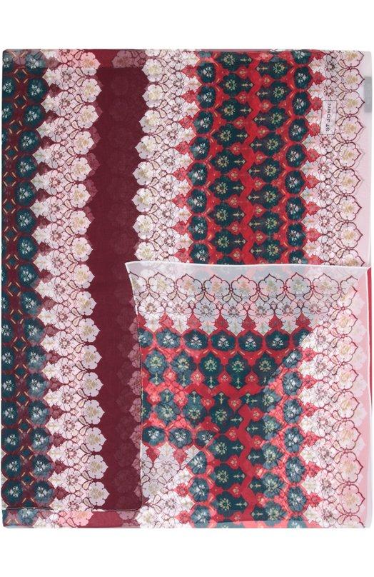 Шелковый шарф с принтом St. JohnШарфы<br>Длинный красный шарф из тонкого шелкового жоржета вошел в коллекцию сезона осень-зима 2016 года. На создание красочного принта, украшающего аксессуар, дизайнеров вдохновили мотивы традиционной марокканской мозаики.<br><br>Российский размер RU: 62<br>Пол: Женский<br>Возраст: Взрослый<br>Размер производителя vendor: 62Х100<br>Материал: Шелк: 100%;<br>Цвет: Красный