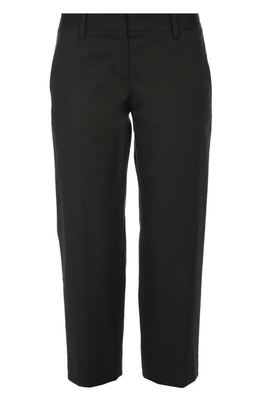 Укороченные брюки прямого кроя DKNYБрюки<br><br><br>Российский размер RU: 40<br>Пол: Женский<br>Возраст: Взрослый<br>Размер производителя vendor: 2<br>Материал: Хлопок: 98%; Эластан: 2%;<br>Цвет: Черный