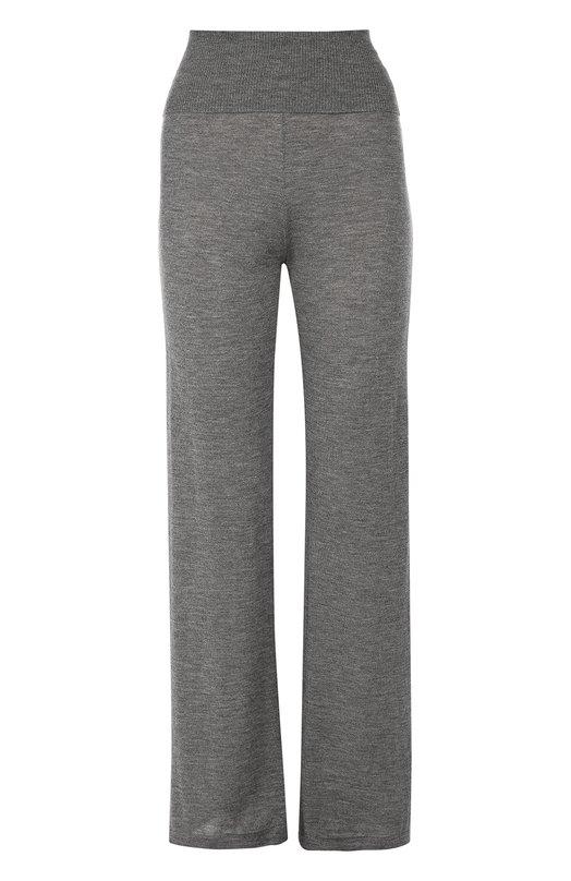 Кашемировые брюки прямого кроя с эластичным поясом Back LabelБрюки<br>В осенне-зимнюю коллекцию 2016 года вошли темно-серые брюки с широким эластичным поясом. Модель прямого кроя выполнена из ультратонкого кашемирового трикотажа. Попробуйте сочетать с черным пуловером, белыми слипонами и рюкзаком.<br><br>Российский размер RU: 42<br>Пол: Женский<br>Возраст: Взрослый<br>Размер производителя vendor: S<br>Материал: Кашемир: 100%;<br>Цвет: Темно-серый