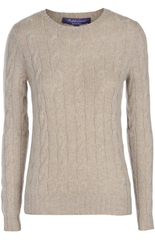 Приталенный кашемировый пуловер фактурной вязки Ralph LaurenСвитеры<br><br><br>Российский размер RU: 44<br>Пол: Женский<br>Возраст: Взрослый<br>Размер производителя vendor: M<br>Материал: Кашемир: 99%; Полиамид: 1%;<br>Цвет: Серый