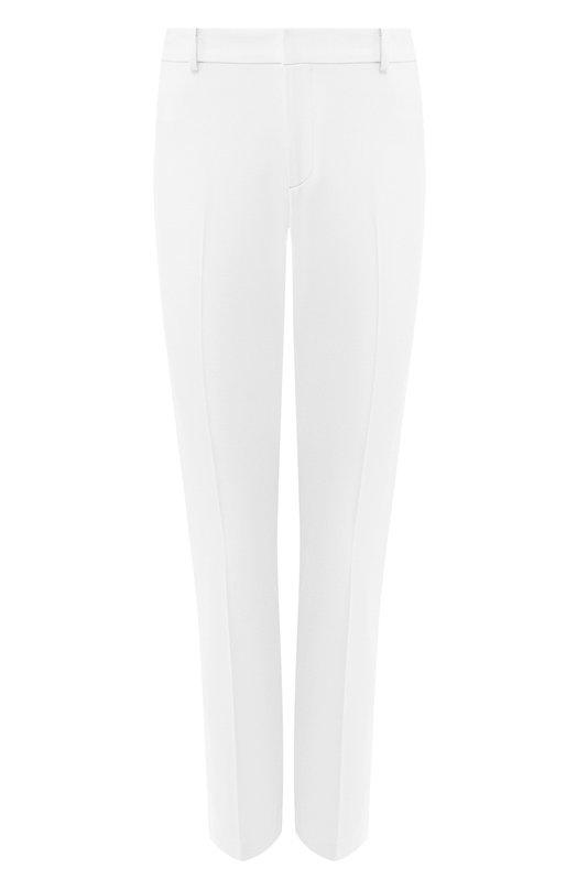Купить Шерстяные брюки прямого кроя Ralph Lauren, 914/IXQ51/FXQ51, США, Кремовый, Шерсть: 96%; Подкладка-шелк: 91%; Подкладка-эластан: 9%; Эластан: 4%;