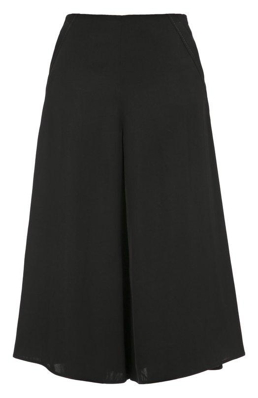 Укороченные расклешенные брюки с карманами Dorothee SchumacherБрюки<br><br><br>Российский размер RU: 40<br>Пол: Женский<br>Возраст: Взрослый<br>Размер производителя vendor: 1<br>Материал: Триацетат: 100%;<br>Цвет: Черный
