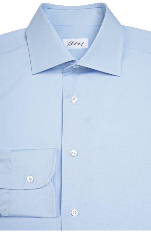 Хлопковая сорочка с воротником кент BrioniРубашки<br><br><br>Российский размер RU: 44<br>Пол: Мужской<br>Возраст: Взрослый<br>Размер производителя vendor: 44<br>Материал: Хлопок: 100%;<br>Цвет: Голубой