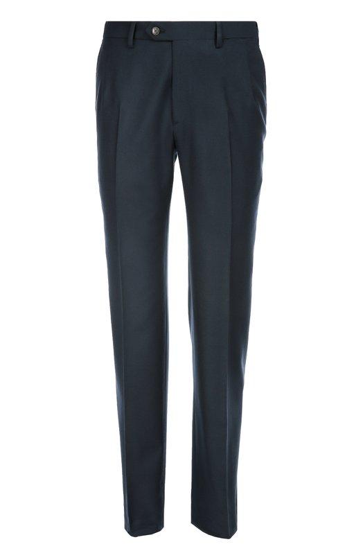 Купить Классические шерстяные брюки Brioni, RPL2/05A99/M0ENA, Италия, Синий, Шерсть: 100%;