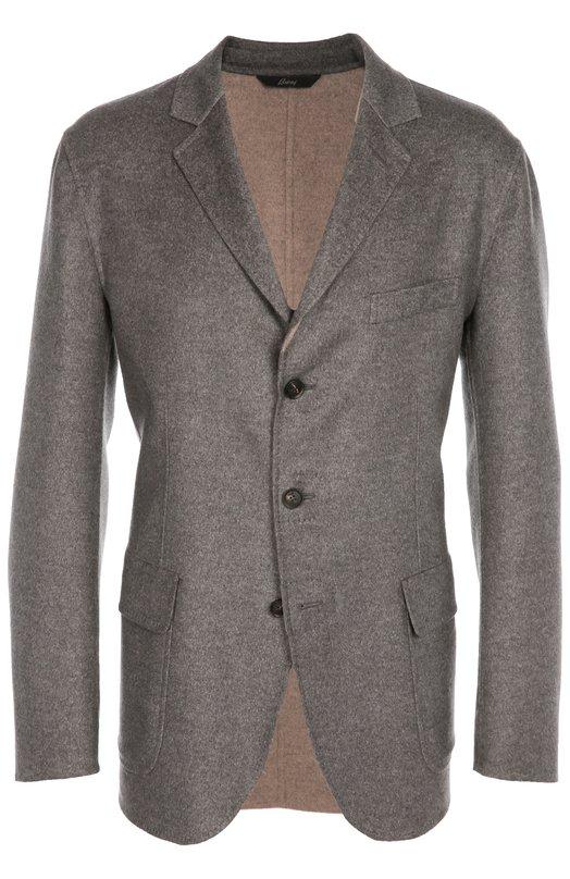 Однобортный пиджак из смеси шерсти и кашемира с шелком Brioni SGLP/03AR6